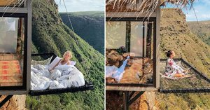 """The View From This Hotel Room in Colombia With a Suspended Net """"Balcony"""" Is Unreal"""