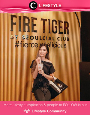 "Bubble tea no.1 Bangkok sudah hadir di Surabaya! Clozette Ambassador @amandatorquise merekomendasikan varian Fire Tiger yang ""The Majesty"" lengkap dengan pudding, milk, cream cheese, dan topping crispy cheese di atasnya. Yum! Simak Lifestyle Update ala clozetters lainnya hari ini di Lifestyle Community. Yuk, share momen favoritmu bersama Clozette."
