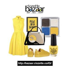 Selain warna merah, KUNING juga bisa membuat awal minggu lebih ceria! bit.ly/bazaaryellow  #ClozetteBazaar #ClozetteID #Yellowfashion #Yellow #onlineshopping