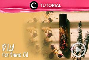 Sambil mengisi waktu luang, coba membuat perfume oil sendiri, yuk! Simak tutorialnya di: https://bit.ly/33PyCeu. Video ini di-share kembali oleh Clozetter @kamiliasari. Temukan juga video menarik lainnya yang ada di Tutorial Section.