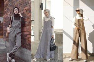 8 OOTD Overall Hijab Agar Terlihat Lebih Muda Dan Glowing