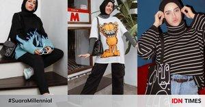 10 Ide OOTD Hijab Pakai Baju Oversized ala Aghnia Punjabi