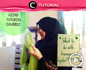 Punya hijab transparan dan bingung untuk padu padannya? Cek tutorial berikut ini http://bit.ly/2yBEGKz. Cek tutorialnya, di sini Video ini di-share kembali oleh Clozetter: @kyriaa. Cek Tutorial Updates lainnya pada Tutorial Section.