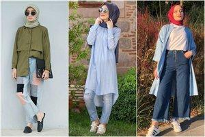 10 OOTD Hijab Kasual Celana Jeans yang Stylish dan Terlihat Sopan