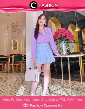 Another way to style lilac color: pair it with light blue item! Image shared by Clozetter @chelsheaflo. Simak Fashion Update ala clozetters lainnya hari ini di Fashion Community. Yuk, share outfit favorit kamu bersama Clozette.