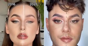 What's the 2016 vs. 2021 Makeup Challenge on TikTok? These Looks Will Take You Back