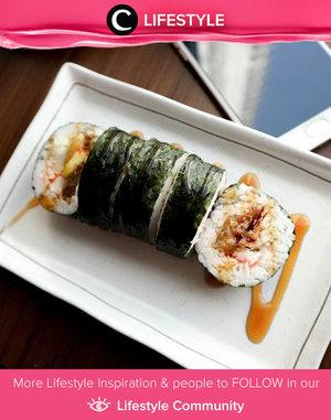 Sushi or kimbap or both? Any meals which rolled inside nori seaweed always look delicious! Simak Lifestyle Updates ala clozetters lainnya hari ini di Lifestyle Community. Image shared by Clozetter @dindahakeem. Yuk, share juga momen favoritmu.