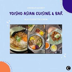 Pecinta Asian food wajib mampir, nih ke @yoishojakarta. Letaknya di Jl. Gunawarman,  Kebayoran Baru, Jakarta Selatan. Punya konsep outdoor, Yoisho yang dulu terkenal dengan menu ramen, kini menu-menunya sudah bervariasi, lho! Jangan lupa kalau mau mampir kesini untuk berbuka puasa, lebih baik reservasi dulu. Penasaran sama menu-menu favorit Clozette Crew, nggak? Yuk, simak video berikut!📷 @yoishojakarta#ClozetteID #ClozetteIDVideo #ClozetteXCoolJapan #ClozetteIDCoolJapan