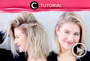Say good bye to your oily greasy hair with this trick: http://bit.ly/3bZQgzW. Video ini di-share kembali oleh Clozetter @juliahadi. Lihat juga tutorial lainnya di Tutorial Section.
