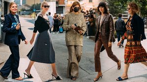 Milan's Street Style Stars Prove Sandal Season Isn't Over (Yet)