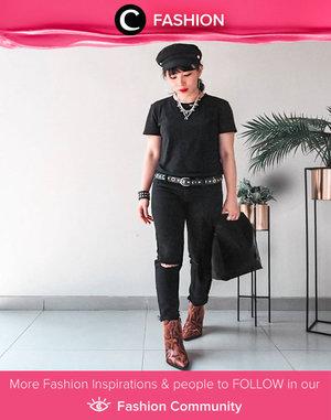 Clozette Ambassador @bebelicious shows her edgy side in an all-black outfit. Simak Fashion Update ala clozetters lainnya hari ini di Fashion Community. Yuk, share outfit favorit kamu bersama Clozette.