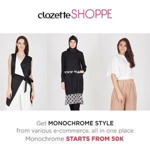 Tampil gaya dengan balutan busana monokrom tidak akan membuatmu salah kostum, Clozetters! Belanja busana monokrom favoritmu dari berbagai e-commerce site via #ClozetteSHOPPE MULAI 50k! http://bit.ly/monowbs