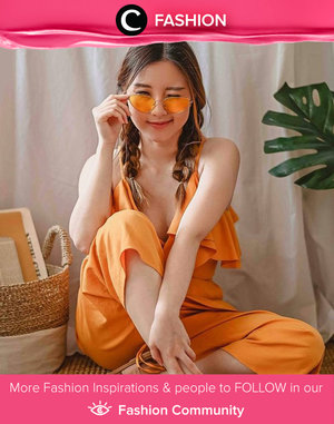 Clozette Ambassador @yanitasya brings the summer sun back by wearing all orange. Simak Fashion Update ala clozetters lainnya hari ini di Fashion Community. Yuk, share outfit favorit kamu bersama Clozette.