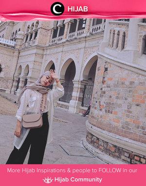 Start your week with neutral-coloured outfit like Clozette Ambassador @cyndiadissa. Happy Monday, Clozetters! Simak inspirasi gaya Hijab dari para Clozetters hari ini di Hijab Community. Yuk, share juga gaya hijab andalan kamu.