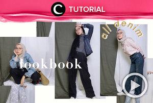 Denim styling for hijab OOTD: https://bit.ly/2IDzHQD. Video ini di-share kembali oleh Clozetter @shafirasyahnaz. Lihat juga tutorial lainnya di Tutorial Section.