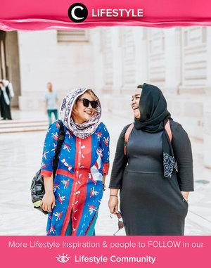 Jika berkunjung ke tempat eksotis, jangan lupa kenakan baju yang erat dengan kultur disana, seperti ClozetteCrew @dsyarsi dalam balutan baju etniknya ketika berkunjung ke Muscat, Oman. Simak Lifestyle Updates ala clozetters lainnya hari ini di Lifestyle Community. Yuk, share juga momen favoritmu.
