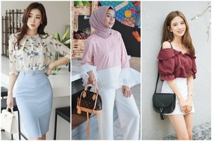8 Tips Padu Padan Blus Ala Korea, Termasuk Untuk Hijaber