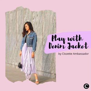 Siapa yang suka banget pakai denim jacket? Untuk kamu yang memiliki casual style, pasti denim jacket menjadi salah satu item favorit. Tahu nggak sih, Clozetters, kalau denim jacket nggak hanya untuk casual style aja, lho. Fashion item ini bisa banget dipadukan dengan berbagai macam style seperti inspirasi mix and match denim jacket dari Clozette Ambassador di video berikut, simak yah! 📷 @tiffanikosh @janejaneveroo @silviamuryadi @vicisienna @steviiewong  #ClozetteID #ClozetteIDVideo