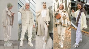 How To Style Jogging pants For Everyday Outfits - Hijab Fashion Inspiration