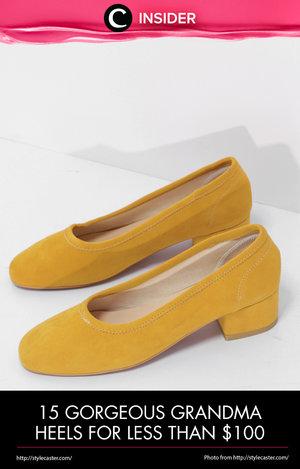 Suka dengan gaya vintage? Kamu tak boleh kelewatan koleksi grandma heels yang telah dirangkum oleh StyleCaster di sini http://bit.ly/1SlMwqq. Simak juga artikel menarik lainnya di http://bit.ly/ClozetteInsider