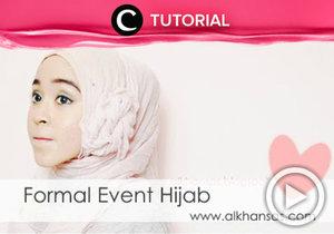 Ingin tampil berbeda di acara formal. Coba tiru gaya hijab berikut ini http://bit.ly/2ti61vS. Video ini di-share kembali oleh Clozetter: @zahirazahra. Cek Tutorial Updates lainnya pada Tutorial Section.