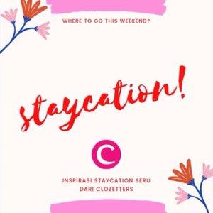 Ingin rehat sejenak dari aktivitas dan kesibukan yang padat? Liburan singkat di hotel atau staycation bisa menjadi jawabannya! Yuk, intip inspirasi staycation dari Clozetters dalam video berikut. #ClozetteID #ClozetteIDVideo.📷 @yanita.sya @ceritaeka @steviiewong @weddewi