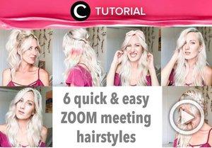 Quick and easy hairstyles for your next zoom meeting: https://bit.ly/3is1v8y. Video ini di-share kembali oleh Clozetter @kyriaa. Lihat juga tutorial lainnya di Tutorial Section.
