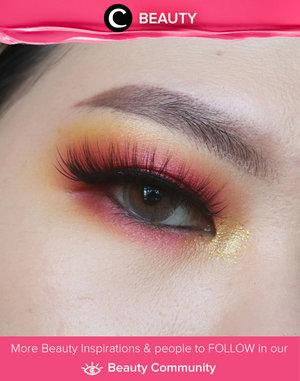 Clozetter @liamelqha wearin' sunnset colors on her eye makeup. Simak Beauty Update ala clozetters lainnya hari ini di Beauty Community. Yuk, share produk favorit dan makeup look kamu bersama Clozette.