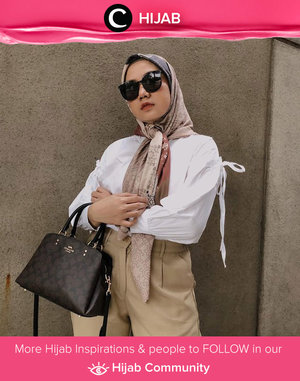 Yashh to this classy and chic outfit styling by Clozetter @nabilaaz. Simak inspirasi gaya Hijab dari para Clozetters hari ini di Hijab Community. Yuk, share juga gaya hijab andalan kamu.