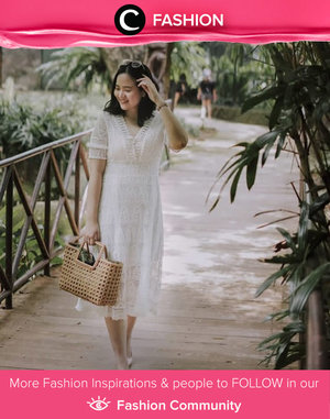 Add your favorite rattan bag to your all-white outfit like Clozetter @jennitanuwijaya. Simak Fashion Update ala clozetters lainnya hari ini di Fashion Community. Yuk, share outfit favorit kamu bersama Clozette.