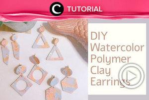 Another clay earrings to make this weekend: https://bit.ly/36VWFKt . Video ini di-share kembali oleh Clozetter @juliahadi. Lihat juga tutorial lainnya yang ada di Tutorial Section.