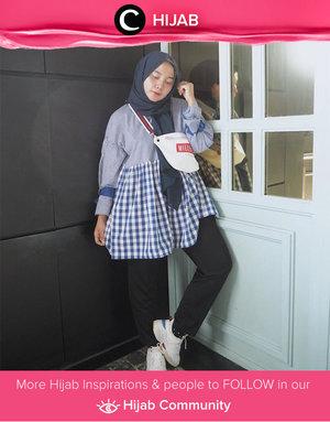 So in love with gingham baby doll tunic and matching belt bag. Simak inspirasi gaya Hijab dari para Clozetters hari ini di Hijab Community. Image shared by Clozette Ambassador: @mellarisya. Yuk, share juga gaya hijab andalan kamu