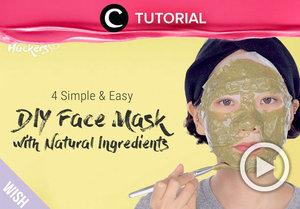 4 DIY masker ini bisa kamu tiru, Clozetters. Yuk, lihat cara membuatnya di video yang dibagikan oleh Clozetter @salsawibowo berikut: http://bit.ly/2PiAi9h. Jangan lupa untuk lihat video tutorial lainnya di Tutorial Section, ya.