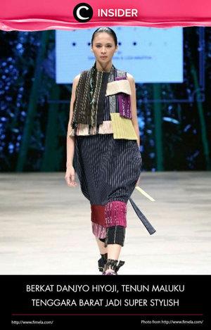 Danjyo Hiyoji menyulap tenun Maluku Tenggara Barat jadi super stylish! Baca ulasannya dari Fimela di sini http://bit.ly/1RgV7e3. Simak juga artikel menarik lainnya di http://bit.ly/ClozetteInsider