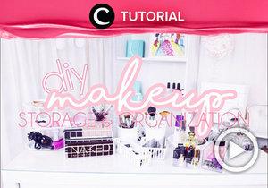 Punya gelas tak terpakai? Alih fungsikan saja menjadi makeup storage. Intip 9 ide & DIY makeup storage lainnya di: http://bit.ly/2YAbPj1. Video ini di-share kembali oleh Clozetter @shafirasyahnaz. Lihat juga tutorial updates lainnya di Tutorial Section.