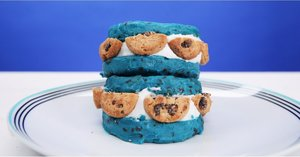 A Cookie Dough Ice Cream Sandwich For the Cookie Monster in Your Life