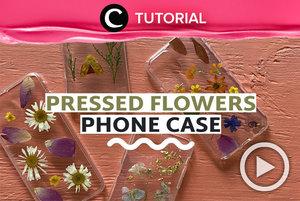 Pressed flower case sedang jadi tren, lho! Yuk, buat sendiri. Intip caranya di : https://bit.ly/3hZholc. Video ini di-share kembali oleh Clozetter @kyriaa. Lihat juga tutorial lainnya di Tutorial Section.