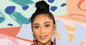 A messy bun is the relaxed way to style out second-day hair