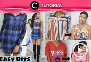 Turn your old clothes into a fancier ones. Intip tutorialnya di: http://bit.ly/2Di8PjO . Video ini di-share kembali oleh Clozetter @kyriaa. Intip juga tutorial lainnya di Tutorial Section.
