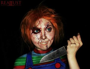 [ Hi I'm Chucky wanna play?! We're friends 'til the end, remember?  Friends stick together till the end! ] . Legendary doll. Do you like this cutie-little-creepy-sweetie doll? I have so much fun when i'm doing this, transform myself became one of my favourite horror icon, Chucky. But the hardest part is to draw chucky's outfit : Striped shirt with a jeans romper. I have to draw a lines with a different colour, and i have to draw a precision line and that's sooo boring 🔪 as a perfectionist, i feel bad when i find out something that not precision ❌ but yeah,  please enjoy my artwork! . . . . . . . . . . . . . . . .  #undertheradar_makeup #crazymakeups #featuremuas #undiscovered_muas #feature_my_stuff #amazingmakeupart  #dupemag #mua_army #muasfam #muas_club  #makeup #kawaii #ファッション #clozetteID #Beauty #sfxmakeup #chucky #childsplay #art #facepainting #specialeffectmakeup  #モデル #メイク #かわいい  #ファッション #specialeffect  #sfxartist