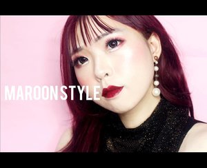 #nowfilming my Maroon Style Makeup Look for Spring 2019 💋 I promised myself : Be more beautiful tomorrow than today! See ya! . . . . . . . . . . . . #BeautyBlogger #Blogger #ART #ARTist #Beauty#beautystagram#モデル#メイク#ヘアアレンジ#オシャレ#メイク#instaphoto#makeup #lady#instagram#style#girl#beauty#kawaii#ファッション#コーディ#ガール#clozetteID#かわいい
