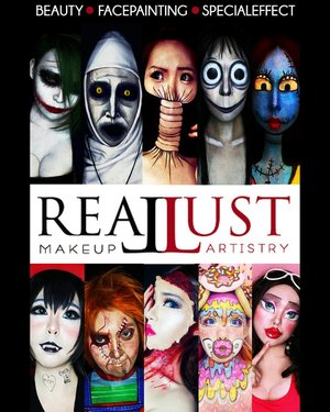 Hello Art & Beauty Enthusiast! REALLUST MAKEUP ARTISTRY will have a special workshop and exhibition at Pakuwon Mall Surabaya (Little Tokyo 2M Floor - Main Stage) on this Saturday (December,  8th 2018).Theme : Self Makeup - Turn Yourself Into Various Character. ..You can try to put on makeup by yourself and ask me anything about Art & Beauty. How to put on makeup, Tips & Trick,  Japanese Beauty,  Face Painting, Illusions Makeup,  Special Effect Makeup,  and everything.  Don't hesitate to ask me because Art has no boundaries. ..Limited seats - Only 15 seats/session.Stay tuned for more information............#Beauty#beautystagram #fashion #style #sfxmakeup #artist #art #beautyinbeingunique#facepainting#specialeffectmakeup #モデル#メイク#ヘアアレンジ#オシャレ#メイク#かわいい#instastyle#girl#beauty#kawaii#コーディネート#ファッション#コーディ#ガール #clozetteID #specialeffect #SFXartist #makeupillusions