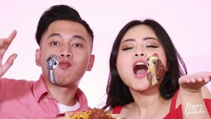 Lady and The Tramp in Real Life 😍 (Watch till the end). . I got the inspiration from one of the sweetest scene on this Disney classic movie. Since Valentine's day and CNY is just a few days apart, I've put on a little CNY twist on this. . . Products used: @mehronmakeup Face Painting @nyxcosmetics_indonesia White & Black Matte Eyeliner @tartecosmetics Concelear @benefitindonesia Ka-Brow Gel Cream @urbandecaycosmetics Eye primer @lagirlindonesia Pro Coverage Foundation all brush using@sigmabeauty kaycollection Eyelashes @lakmemakeup @lakmeprgirl Gold Eyeshadow and Bi-Phased Makeup Remover . . Say Wohoo, if you think this is your #COUPLEGOALS . . No copyright infringement intended, Video Credit : Lady and The Tramp by Disney All painting makeup done by me. Talent : @kevin.thomas.irwan . . . @indobeautygram @indovidgram #indobeautygram #indovidgram #ivgbeauty #beautyguru #beautygram #indobeautyvlogger #facepainting #eyeshadow #UDindonesia #nyxcosmeticsid #lovemakeup #makeupjunkie #makeuplover #underatedglams #makeupwithregina #clozetteid #bloggermafia #hypnaughtymakeup #allmodernmakeup #valentine #chinesenewyear #muasfeaturing#sfxmakeup #ladyandthetramp #disney@undiscovered_muas @xmakeuptutsx@futuremuas