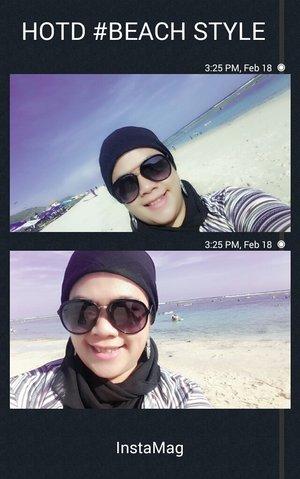 Hijab Style on The Beach :)) Visit my blog for more review dymartha.blogspot.com #HOTD #Hijab #Clozetteid #clozetteambassador