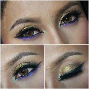 Detail : Brows : @nyxcosmetics @nyxmakeupid tame and frame espresso. . shadows : @pac_mt sparkling powder : gold, matte eyeshadow : brown . @bhcosmetics wild at heart palette (purple) .  @latulipecosmetiques glitter : 03 . Liner : @silkygirl_id eyeliner gel. .  #glamLook #partyLook #partyMakeup #2016 #NYE #newYear #galmorousMakeup #anastasiabeverlyhills #makeupbyan #pangandaran #MuaPangandaran #vegas_nay #maya_mia_y #mayamiamakeup #dressyourface #lookamillion #maryammaquillage #hudabeauty #neztheartist #zukreat #clozetteID #makeup #beauty #landofmakeup #theamazingworldofj #makeupbychristiaa #makeupwithammy #rfadai #wakeupandmakeup #universodamaquiagem_oficial #hudabeauty