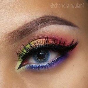 RAINBOW COLORS . 💛using @purbasari_indonesia eyeliner pen. 💜 @coastalscents 88 original palette .  #EOTD #rainbow #colorful #colorfulmakeup#anastasiabeverlyhills #pinkperception #dressyourface #makeupbyan #pangandaran #MuaPangandaran #vegas_nay #maya_mia_y #mayamiamakeup #dressyourface #lookamillion #maryammaquillage #hudabeauty #neztheartist #zukreat #clozetteID #makeup #beauty #landofmakeup #theamazingworldofj #makeupbychristiaa #makeupwithammy #rfadai #wakeupandmakeup #universodamaquiagem_oficial #hudabeauty