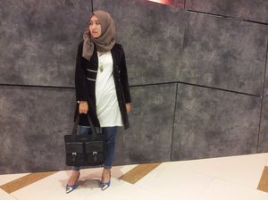 my western style with my gorgeous heels from summit 'simple & match'#hijab #ootd #blogger #fashion #ClozetteID #GoDiscover #ItsSoYou