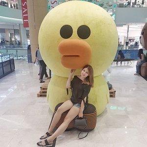 Sally asks how's your Monday, peeps? 🦆 . . #NatashaJS #NatashaJSOOTD #NatashaJSinKorea #VioletBrush #linefriends #sally #clozetteid
