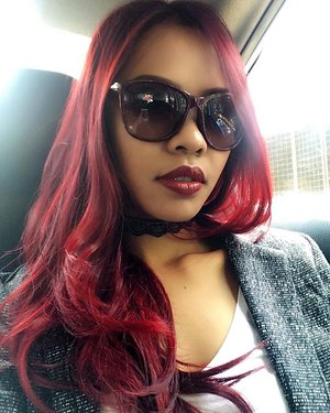 Miss my red hair so much 😭😭😭 . . . YAY or NAY???? . . . #indonesianlivinginbangkok #redhairdontcare #hair #indonesian #starclozetter #clozetteid #bangkok #thailand