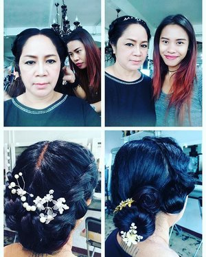 Last day on my hairdo course yesterday ❤️ Its another happy feeling to know that I can do things that I never knew I can't 😂  Big thx to Jessy who teach us patiently in simple way and make it this course more fun 😘  Its not perfect yet! Still practice makes perfect 😘❤️😍💪🏼 #blogger #indonesianlivinginbangkok #starclozetter #clozetteid #instagram #muaindonesia #jakarta #indonesia #beautyblogger #hairdo #hairstyle #hair #practicemakesperfect #practicemakesprogress #instahair #indonesianblogger